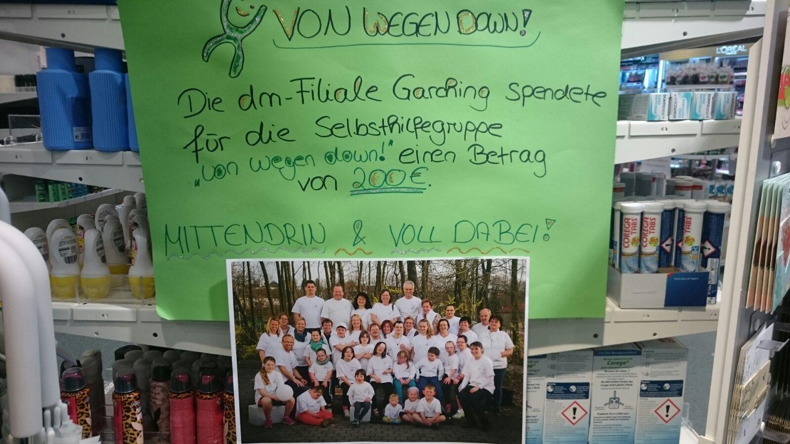 dm Garching spendet für VWD